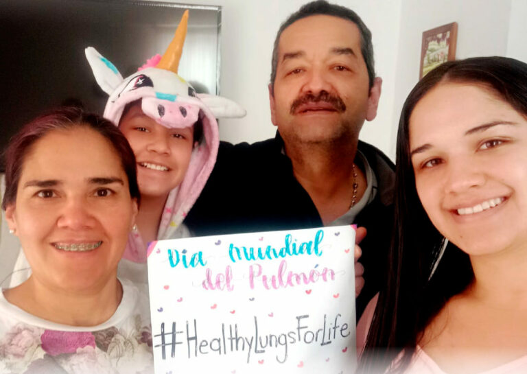 An online Zumba session was held by healthcare professionals in Colombia to help raise awareness of the importance of physical activity for healthy lungs.