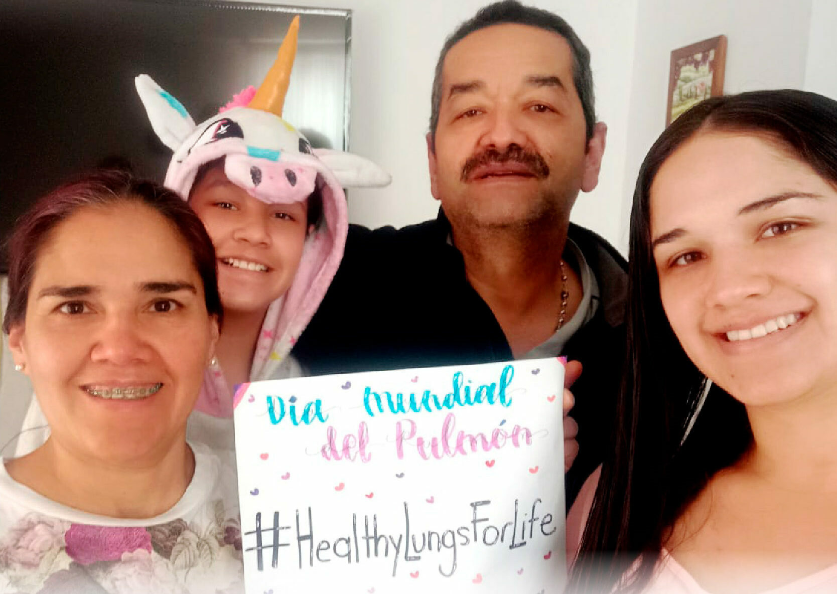 An online Zumba session was held by healthcare professionals in Colombia to help raise awareness of the importance of physical activity for healthy lungs. - Preview Image