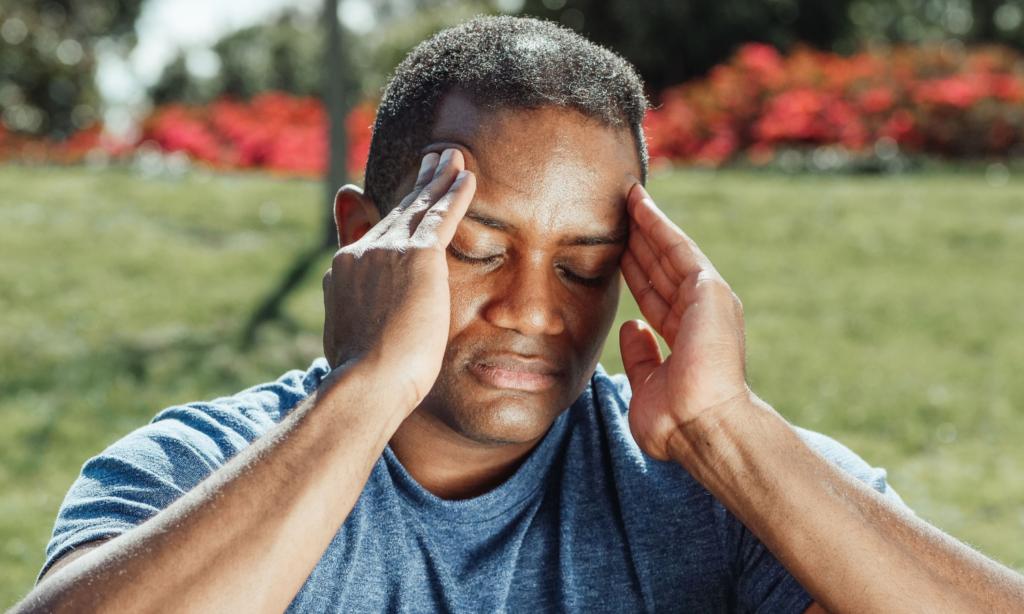 Man struggling with poor mental health